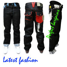 NEW MENS MONEY TALKS DESIGNER SUPER FIT BOOTCUT FUNKY LOOK JEANS ALL SIZES