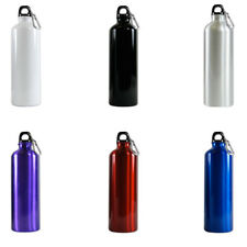 Random Color - Aluminum Water Bottle 25oz (750ml) - Eco Friendly and BPA FREE