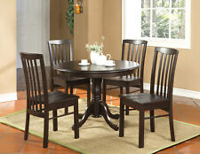 "ROUND KITCHEN DINETTE SET TABLE 42"" FINISHED IN WALNUT - NO CHAIR INCLUDED"