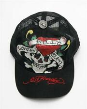 Ed Hardy Rhinestone LOVE KILLS SLOWLY Trucker Hat NEW GENUINE