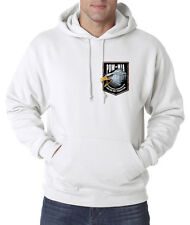 POW MIA American Eagle Crest US Military 50/50 Pullover Hoodie