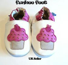 NEW SOFT LEATHER BABY SHOES 0-6, 6-12, 12-18, 18-24, 24-36 MTHS CUPCAKE
