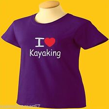 I Love Kayaking T-Shirt Heart Womens