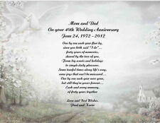 40th Wedding Anniversary Poem Gift For Mom Dad Anyone