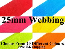 25mm Cotton Webbing Belting Fabric Strap Bag Making Thick Tape Quality Strapping