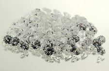 (1.5mm - 6mm) AAA Round White Cubic Zirconia (100 piece lots)
