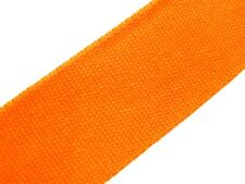 Orange (83) Cotton Webbing Belting Fabric Strap Bag Making Thick Quality 25/40mm
