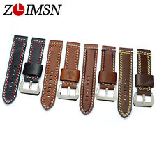 22mm OR 24mm MAN Vogue Thick Generosity Manual Genuine Leather Watch BAND Strap