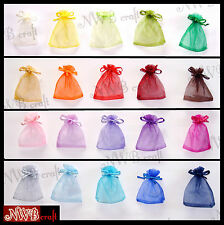 7 x 9 cm Organza Wedding Favour / Gift Bags, Jewellery Pouch, Various Colours