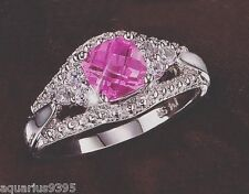 AVON Platina4 Forever Pink Ring choose your size