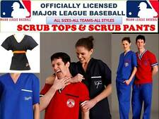 MLB SCRUB TOP-MLB SCRUB PANTS-MLB SCRUBS-ALL TEAMS- BASEBALL SCRUBS-A-B TEAMS