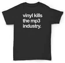 "VINYL KILLS MP3 T SHIRT RECORD 45 BREAK 12"" RARE DIG BE"