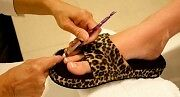 BEECH Yoga COMFYS Women LEOPARD Toe Stretch Slipper  CLEARANCE PRICING