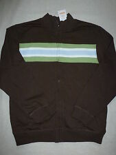 Gymboree DINO MIGHTY Brown Stripe Chest Green Blue Zip Jacket NWT 10 12