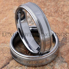 Tungsten Rings Wedding Bands Matching Set Titanium Color Jewelry Hot Size 6-13