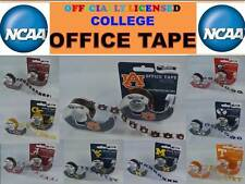 OFFICIALLY LICENSED COLLEGE OFFICE TAPE-COLLEGE SCOTCH TAPE-18 YDS-IN 50 SCHOOLS
