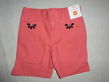 Gymboree PALM BEACH PARADISE Coral Pink Black Gem Bermuda Shorts NWT 3 Girls