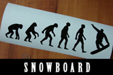 Snowboarder Evolution fun sport  VINYL DECAL STICKER Snowboard