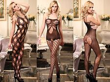 SEXY NEW OPEN CROTCH CROTCHLESS FISHNET LINGERIE BODY STOCKING O/S 6-10