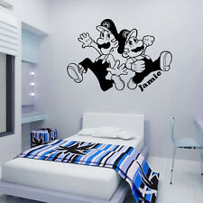 Super Mario Brothers - Wall Decal Art Sticker Children Nursery Bedroom