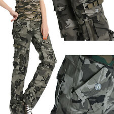 New Ladies Womens Camouflage Cargo Jeans Combat Trousers Army Military Pants