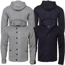 Mens Dissident 1B1048 hooded knitwear cardigan jumper top sweater hoody S,M,L&XL