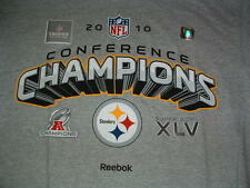 PITTSBURGH STEELERS 2010 AFC CHAMPIONS PLAYERS LOCKER ROOM T-SHIRT M-L-XL NEW