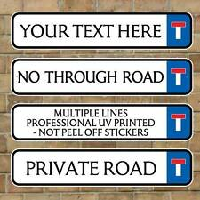 No Through Road Traditional Street Road Sign, Metal Composite fully weatherproof