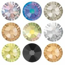SWAROVSKI ELEMENTS Flat Back 2058 Foiled Glue Fix All Sizes & Colors Rhinestones