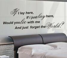 If i lay here Snow Patrol quote wall art sticker quote - 4 sizes - wa35