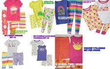* NWT NEW GIRLS 2PC OR 3PC CARTERS RAINBOW FROG SUN PAJAMAS SET 12M 18M 2T