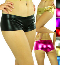 Pick A Super Hot Sexy Lame Leather Metallic Liquid Booty Hot Mini Shorts Tanga
