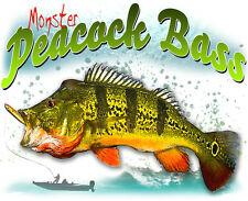 Monster Peacock Bass Fishing T Shirt,Reel,lures,rod