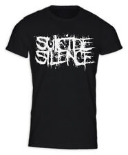 Suicide Silence Mitch Lucker Heavy Metal Black LOGO Celeb T-Shirt  S,M,L,XL