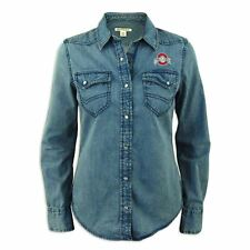 Ohio State Buckeyes Ladies Cutter and Buck Long Sleeve Wild Card Denim Shirt