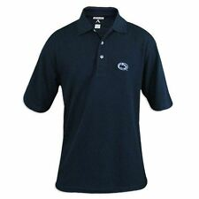 Mens Antigua Black Classic Pique Antech Polo