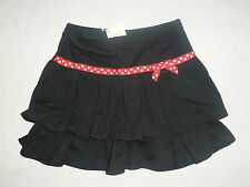 Gymboree POLKA DOT LADYBUG Black Red Polka Dot Ribbon Bow Tiered Skirt Skort NWT