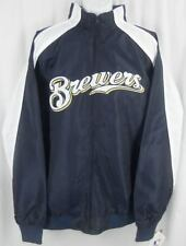 Milwaukee Brewers MLB Majestic Light Weight Full Zip Jacket Big & Tall Sizes