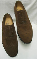 Mens Loake  202Ds Brown Suede Brogue lace ups.