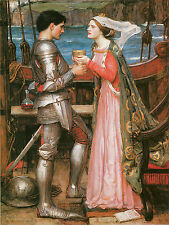 Tristan and Isolde with the Potion- John William Waterhouse -  Love and Romance