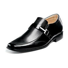 NEW! MENS STACY ADAMS BEAU 24692-001 BLACK LEATHER MOC TOE LOAFER SHOES SIZE