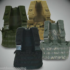 TACTICAL ZIPPERED HYDRATION COMMANDO CHEST RIG - MOLLE Modular, Adjustable