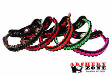 Bow Paracord Wrist Sling Strap Leather Yoke over 20 colors 2 choose from Archery