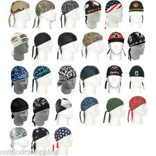 Tie In Back Cotton Stylish Headwraps - Motorcycle/Recreational Use, Many Designs