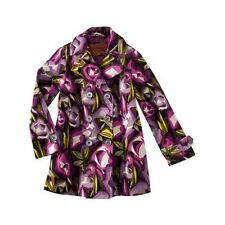 NEW! Cute Missoni Toddler Girls Floral Rose Trench Coat 6-18M 2T-5T Purple/Pink