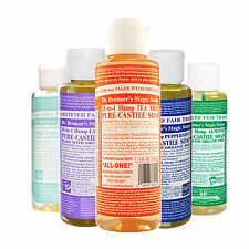DR Bronner Castille Sapone Liquido Biologico Fair Trade 4 fl oz 118 ml