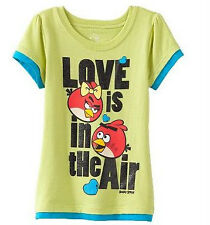 * NWT NEW GIRLS Angry Birds Mock-Layer Love is in the Air SUMMER SHIRT 2T 3T 4T