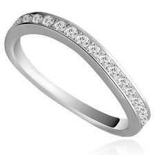 Genuine Solid Sterling Silver CZ Wavy Eternity Ring Size 5 6 7 8 PR201812