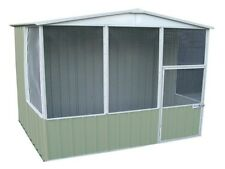 Absco Aviary 3m x 2.2m Colorbond or Zincalume A30231GK Gable Roof