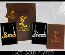 """Islamic Gift Name """"Sarah"""" Necklace Arabic 18k Gold Plated Jewellery Personalised"""